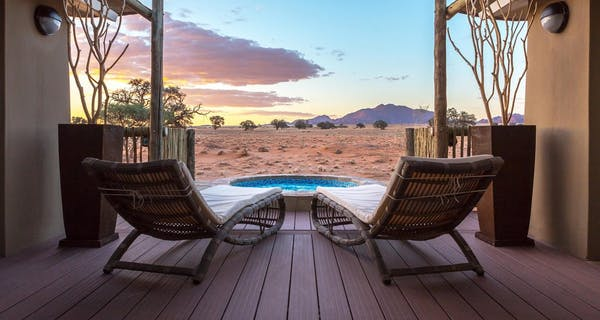 Junior Suite plunge pool at Sossusvlei Lodge