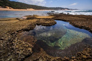 Rock pools at low tide
