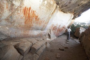 Rock art visit