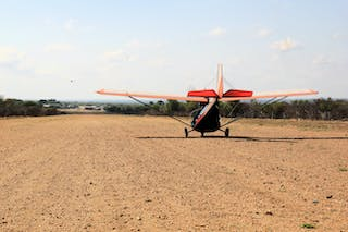 Taking Off On The Dirt Runway At Hoedspruit