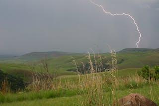Lightning Over The Drakensberg