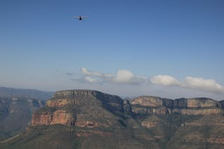 Flying High Over The Canyon Walls