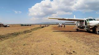 Rush Hour At The Masai Mara Air Strip