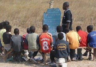 A Class Meets Under A Tree In Mwalubemba Village Zambia 1