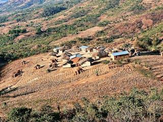 A Hillside Village In Malawi