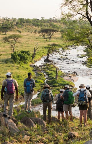 Admiring The View On A Serengeti Trekking Safari With Wayo