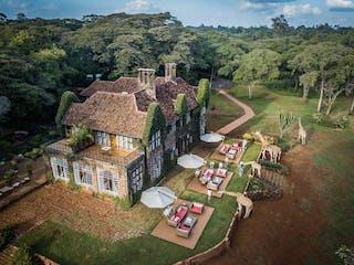 Aerial View Of Giraffe Manor