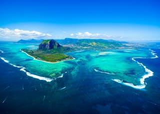 Aerial View Of  Le  Morne  Mauritius