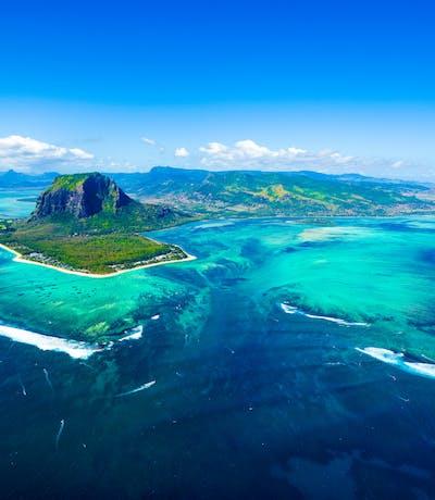 Aerial View Of Le Morne Mauritius