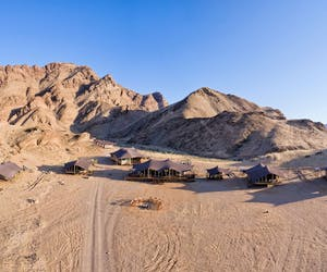 Aerial View Of The Camp Hoanib Valley Camp