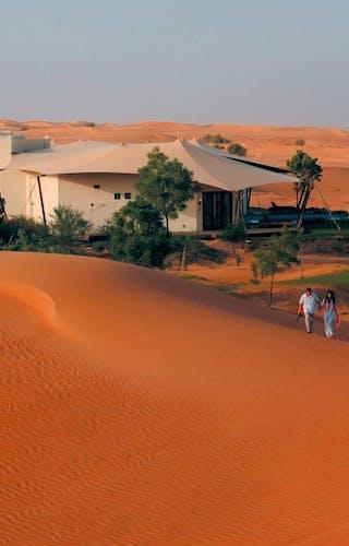 Al Maha Desert Resort Dune Walking
