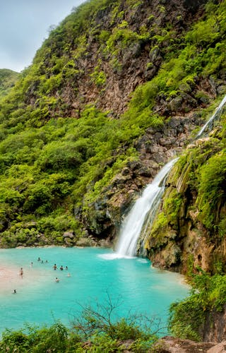 Ayn Khor Waterfalls In Salalah Oman