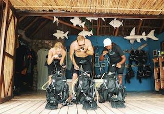 Azura Quilalea Private Island Preparing Scuba Gear