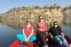 Boat  Ride At  Bhainsrorgarh  Fort