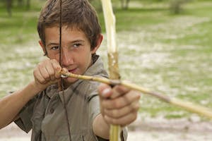 Bow And Arrow Making At Young Explorers In Botswana