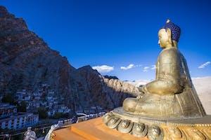 Buddha Statue At  Hemis