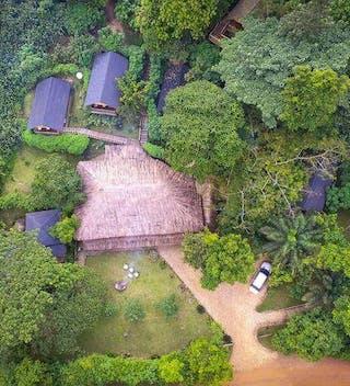 Buhoma Lodge Aerial
