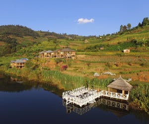 Bunyonyi Rock Resort From Lake