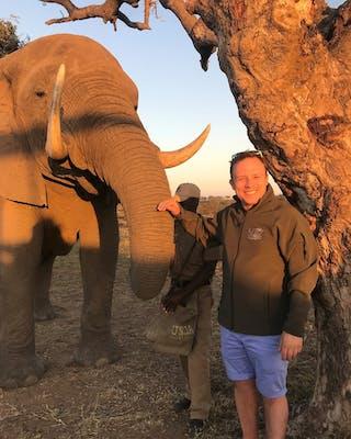Peter at Camp Jabulain Kruger South Africa