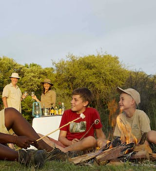 Campfire Time At Young Explorers In Botswana