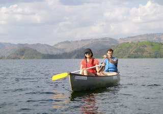 Canoeing On Lake Kivu