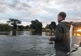 Charlie Fishing On The Zambezi Thorntree River Lodge