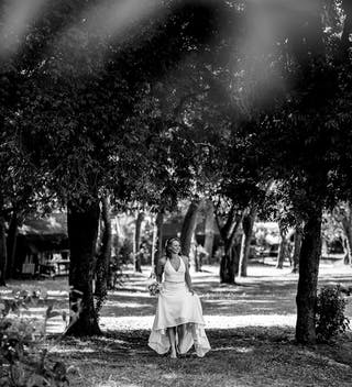 The bride making her way to the ceremony (image credit - Check Photography)