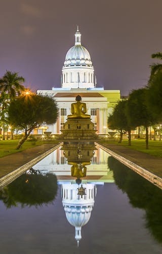 Colombo Town Hall At Night
