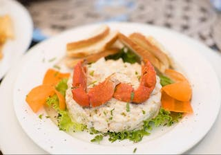 Crab Salad At Bahia Mar Restaurant In Vilanculos