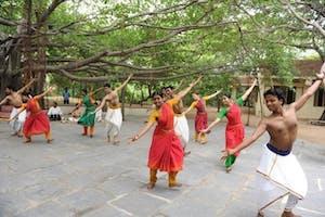 Dancers At  Kalakshetra