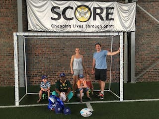 Donating Some Balls And Caps From Bath Rugby Club