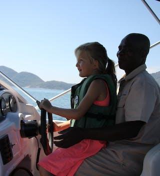 Driving The Pumulani Boat