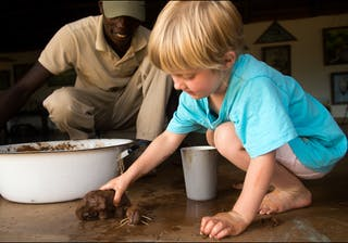 El  Karama  Lodge  Family Safari Activities Here They Are Sculpting Elephants In Termite Clay