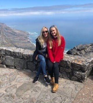 Emily And Tess On Top Of Table Mountain
