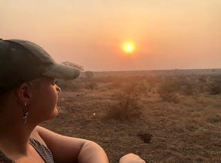 Emily On A Sunset Safari