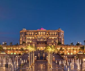 Emirates Palace At Dusk