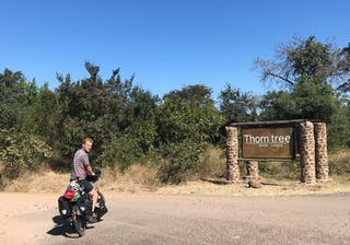 Entrance To Thorntree River Lodge At Livingstone Near Victoria Falls