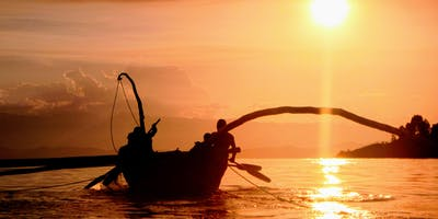 Fishermen On Lake Kivu At Sunset