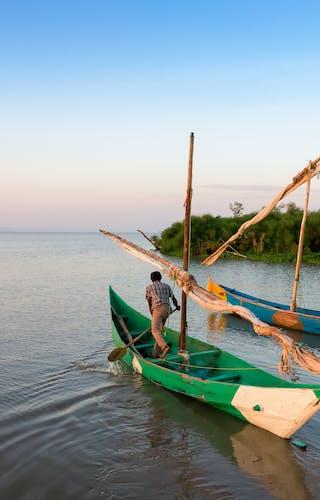 Fishermen On Lake Victoria In Uganda