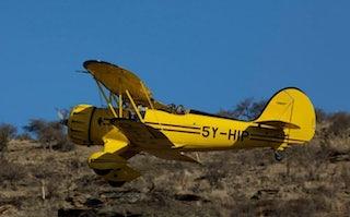 WACO biplane in Lewa - Kenya Safari Flying | Far and Wild Travel