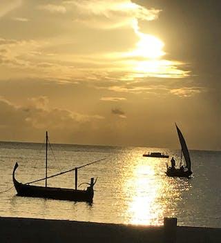 Gili Lankanfushi Beach At Sunset