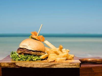 Gourmet Burger At Bahia Mar Restaurant In Vilanculos