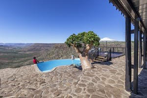 Grootberg Lodge Pool And View