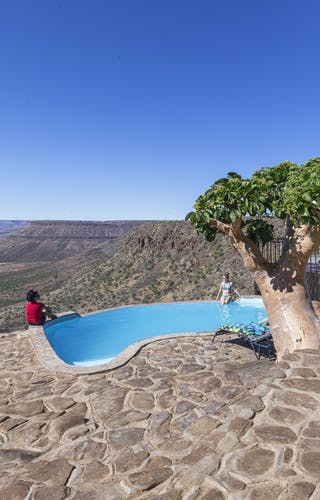 Grootberg Lodge Pool And View