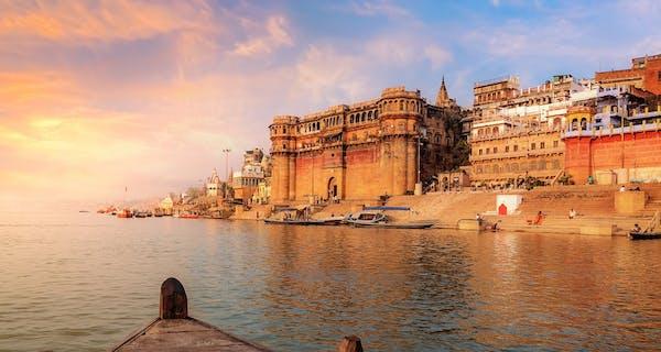 Holy River Ganges At Varanasi Copy