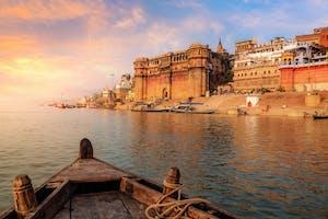 Holy  River  Ganges At  Varanasi