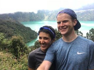 Naomi & Charlie at Ngozi Crater Lake