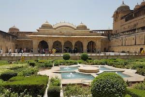Jaipur  Amer  Fort  Gardens