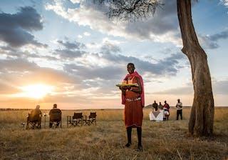 Kenya  The  Safari  Collection  Salas  Camp 17   Salas  Camp Sundowners In The  Mara