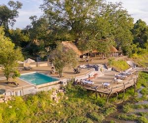 Kafunta River Lodge Aerial Main Area